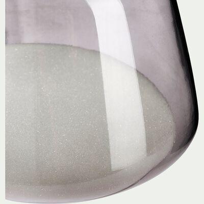 Sablier en verre teinté - gris H22cm-SILOE