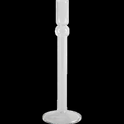 Bougeoir en verre h28.5cm-NINA