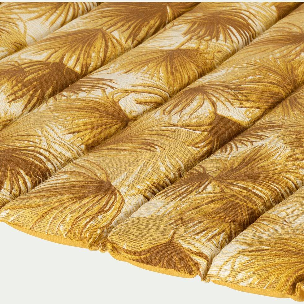 Matelas de plage - rayures jaunes 60x170cm-DOUM