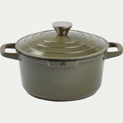 Cocotte en fonte d'aluminium vert cèdre D24cm-EUS