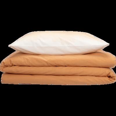 Parure de lit en coton supérieur imprimé dégradé - 260x240 & 63x63 cm-OCRE