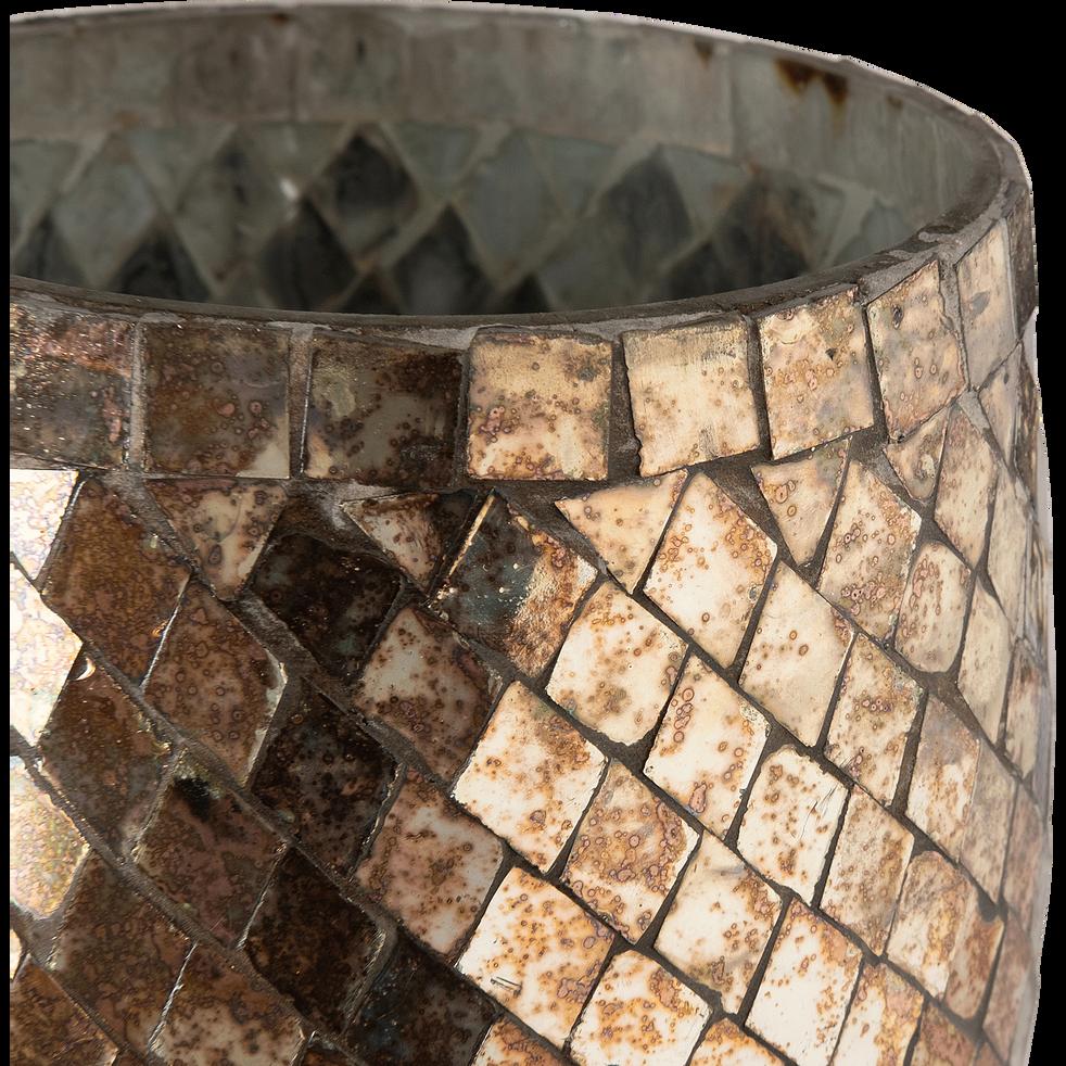 Photophore en verre cuivré H12cm-Sapmi