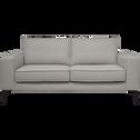 Canapé 2 places fixe en tissu gris restanque-CALIFORNIA
