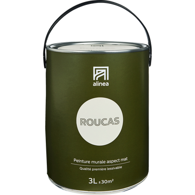 Peinture acrylique mate multi-supports beige roucas 3L-PEINTURE