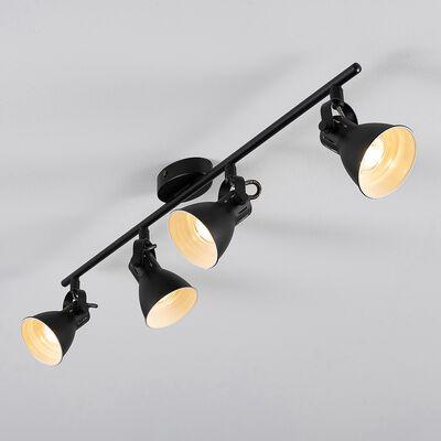 Barre 4 spots LED L77xH6,50cm - noir-SERAS1