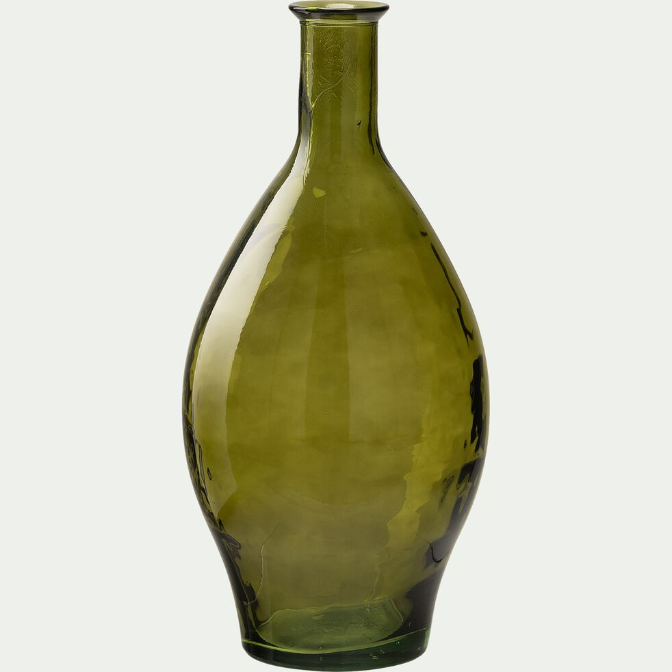 Vase en verre recyclé - vert H60cm-AJJA