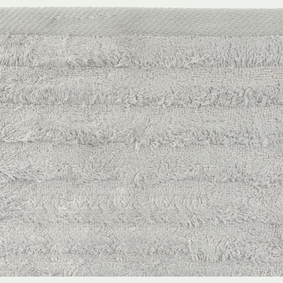 Drap de douche longues mèches en viscose et coton - gris borie 70x140cm-AUBIN