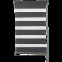 Store enrouleur tamisant gris anthracite 42x190cm-JOUR-NUIT