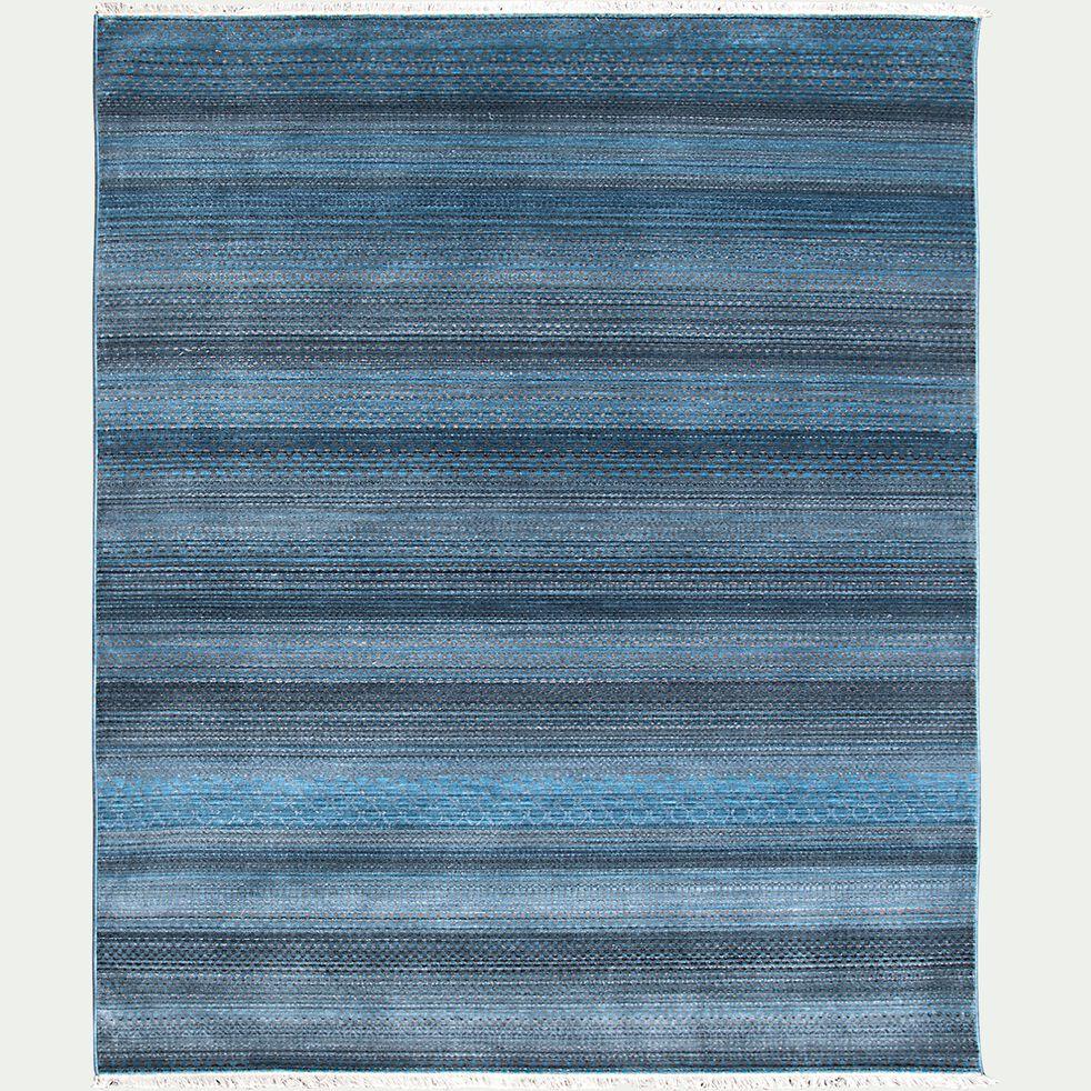 Tapis à motifs rayés - bleu 160x230cm-MOURIES