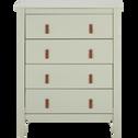 Commode 4 tiroirs vert olivier-LISON