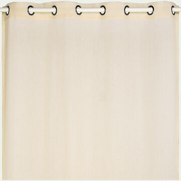 Voilage à œillets en polyester - beige roucas 135x360cm-DUNE