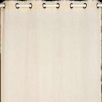 Voilage à oeillets beige roucas 135x360cm-DUNE