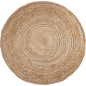 Tapis rond en jute D120cm-RUSH