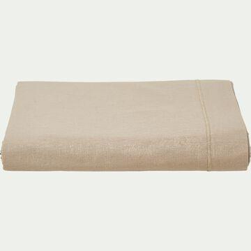 Drap plat en coton - beige alpilles 180x300cm-CALANQUES