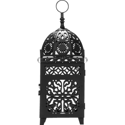 Lanterne en métal noir-Maroco