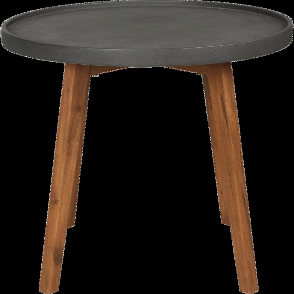 table d 39 appoint de jardin gris anthracite d60xh50cm. Black Bedroom Furniture Sets. Home Design Ideas