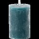 Bougie cylindrique coloris bleu niolon D7xH11 cm-BEJAIA