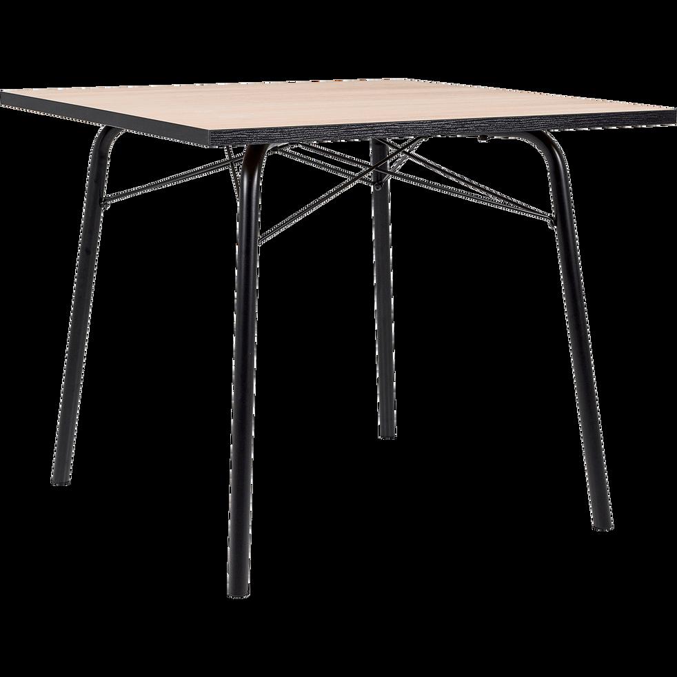 table de repas carr e effet ch ne 4 places denys tables fixes alinea. Black Bedroom Furniture Sets. Home Design Ideas