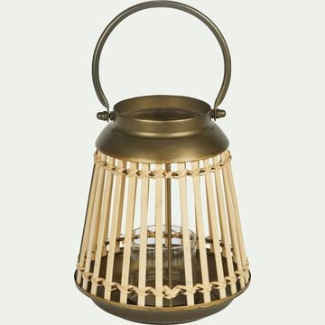 Lanterne en bambou et métal H23cm-ALTA
