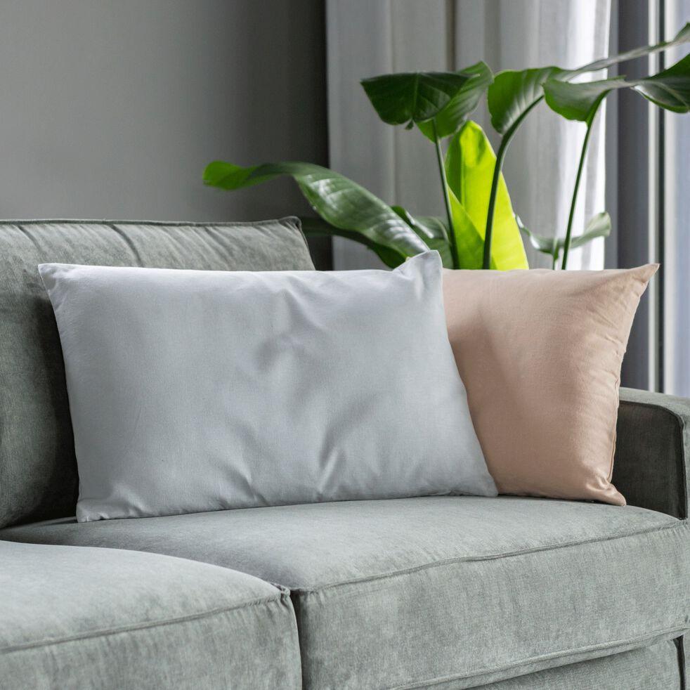 Coussin en coton - gris borie 40x60cm-CALANQUES