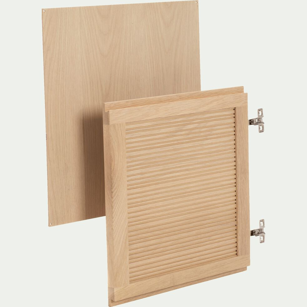Porte en chêne avec fond-Tassia