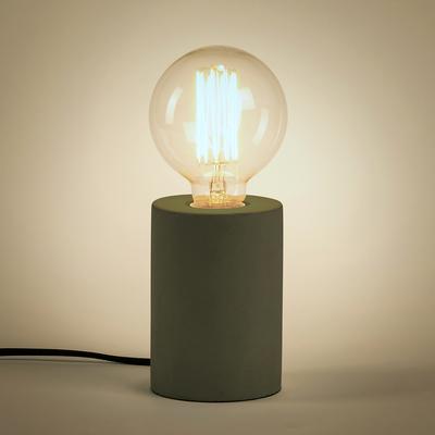 Lampe à poser en béton vert cèdre H12,5xD9cm-PRAO
