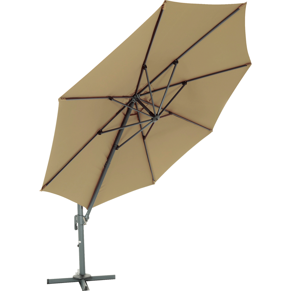 Parasol déporté 3.5M taupe-IMPERIA