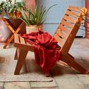 Plaid en coton orange brique 130x170 cm-SAMIA