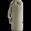 Drap housse en percale de coton lavé 70x140cm vert olivier-PALOMA