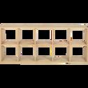 Étagère 10 cases en chêne-Tassia