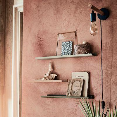 Etagère murale en acier rose L50xl10xH3cm-AGY