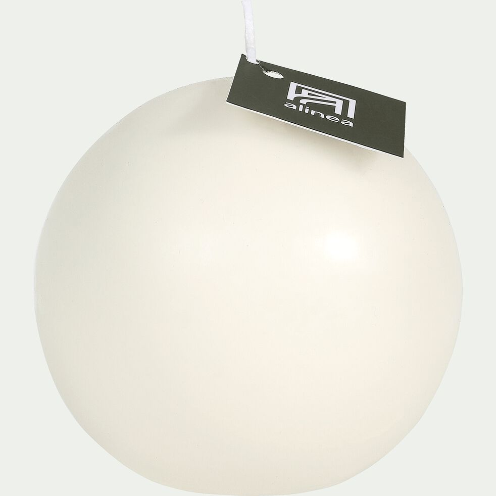 Bougie boule blanc ventoux-HALBA