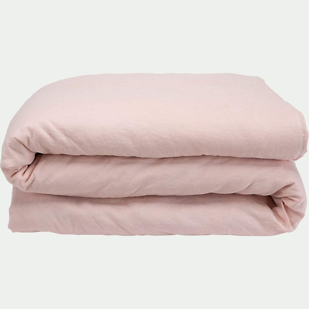Housse de couette en lin - rose rosa 260x240cm-VENCE