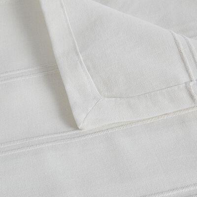 Couvre-lit tissé en coton - blanc ventoux 230x250cm-BELCODENE