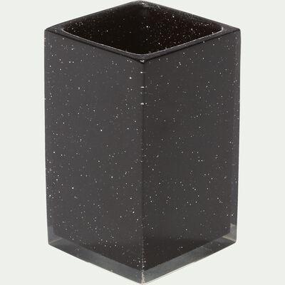 Gobelet noir pailleté-Paillette