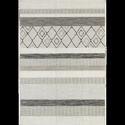 Tapis extérieur et intérieur gris à motifs 120x170cm-EUPHORIE