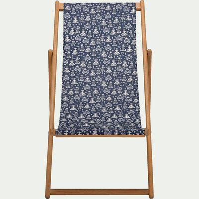 Chilienne de jardin déhoussable à motif Myrthe - bleu-UDINE