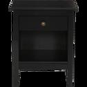 Table de chevet en pin massif Noir 1 tiroir et 1 niche-LISON
