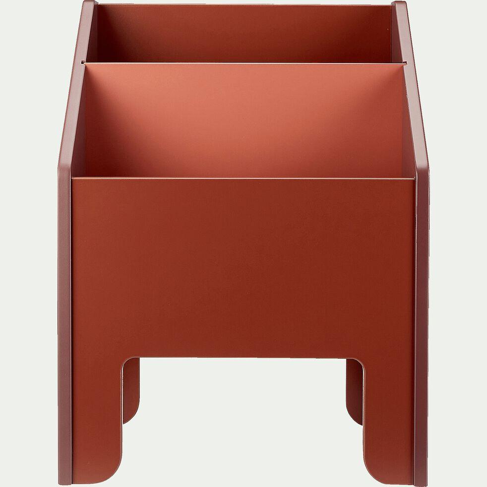 Coffre Range Livres Sans Visserie 2 Cases Rouge Sumac Minot Bibliotheque Enfant Alinea