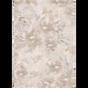 Tapis rectangulaire à motifs Beige-OPALE