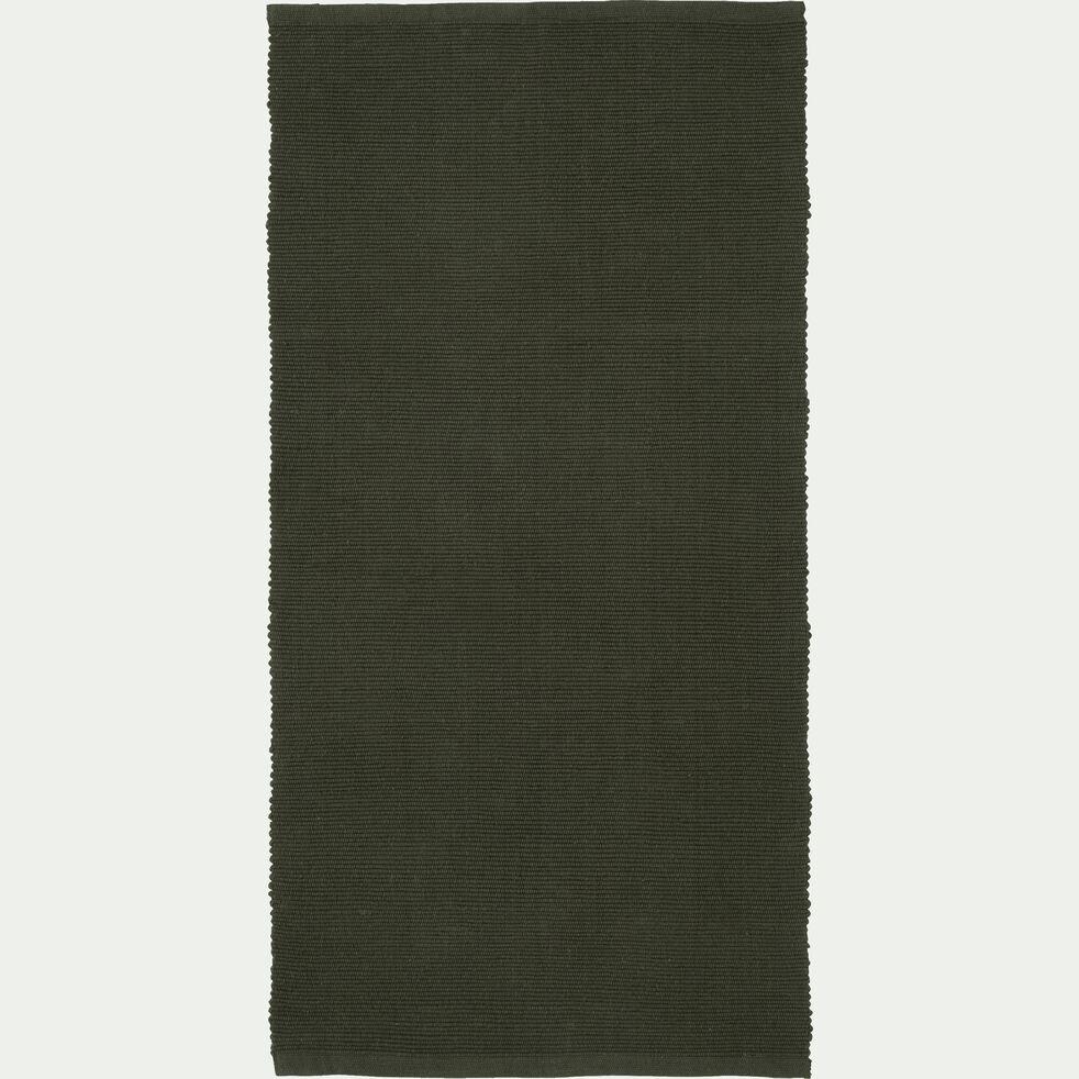 Descente de lit en coton - vert cèdre 60x120cm-CAMELIA