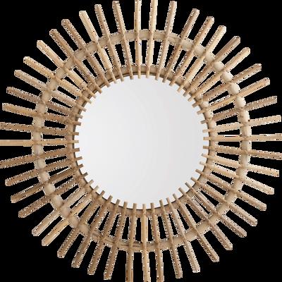 Miroir rond en kubu D63cm-FICUS