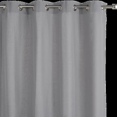 Rideau à oeillets en coton gris restanque 140x300cm-CALANQUES