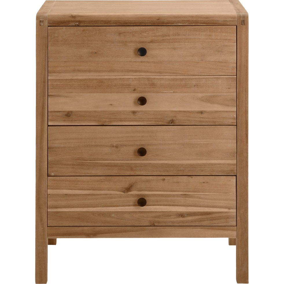 Commode 4 Tiroirs En Acacia Gaia Commodes Alinea
