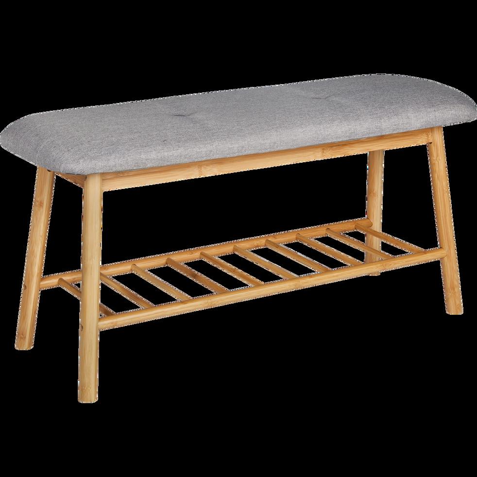 banc d 39 entr e en bambou leopold meubles chaussures. Black Bedroom Furniture Sets. Home Design Ideas