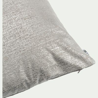 Coussin brillant argenté 40x40cm-IAN
