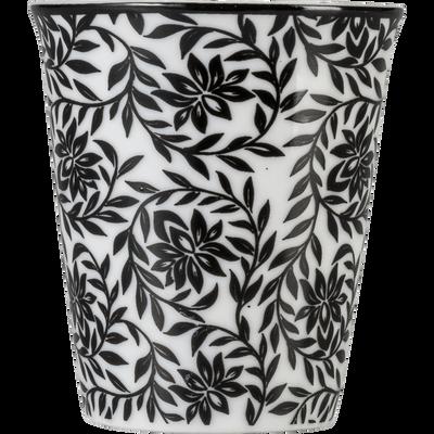 Lot de 6 tasses en porcelaine décorées gris calabrun 9cl-CAMILLE