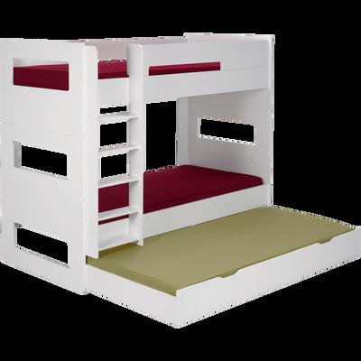 Tiroir de lit à roulettes Blanc-Astuce