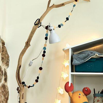 Guirlande décorative ronds L3m - multicolore carmin-Linda