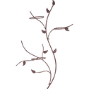Porte plantes 3 supports en acier galvanisé effet rouille-HEDERA